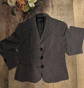 Lafayette Houndstooth Style Blazer 8 Petite